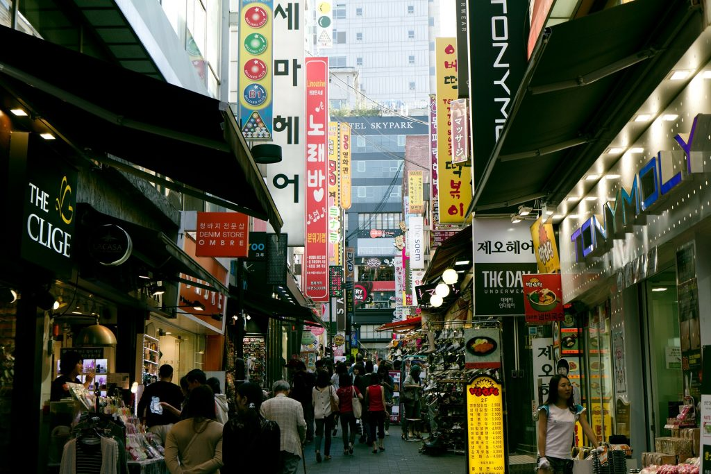 one day in seoul street market