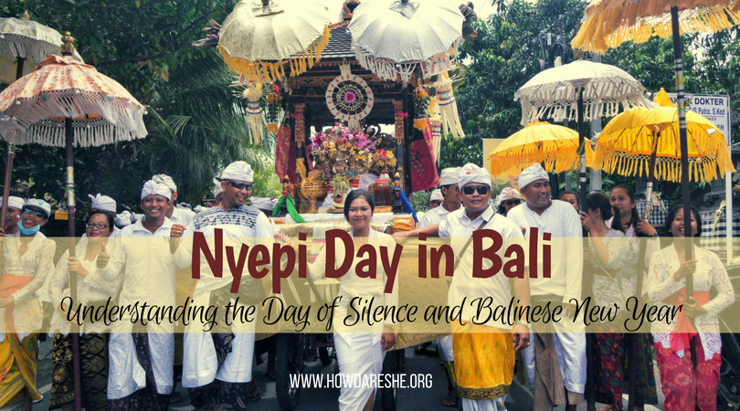 the rituals of Nyepi day in Bali