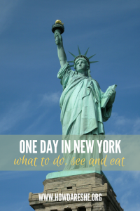 Whether it's a long layover or a quick trip - there are about a million things to do in New York City, from Central Park, to the Empire State Building to getting a slice. Here's what to do, see and taste with just one day in New York.