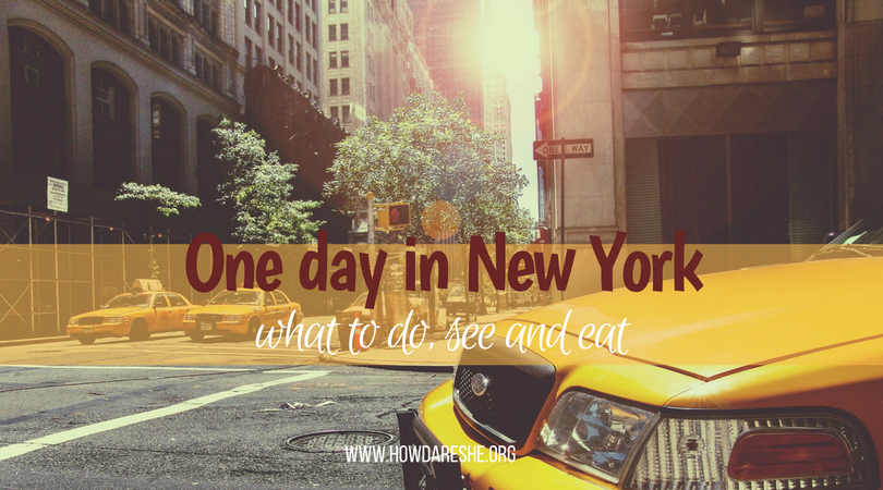 what to do with one day in new york