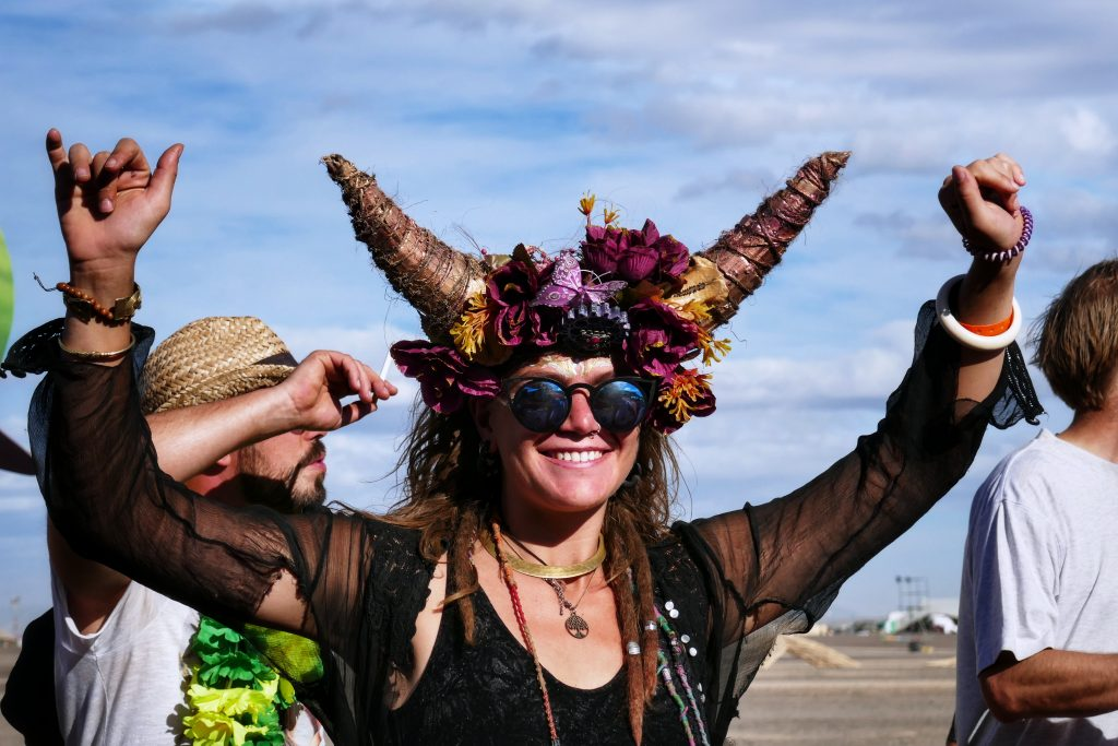 Afrikaburn outfits; Tankwa, Karoo, South Africa