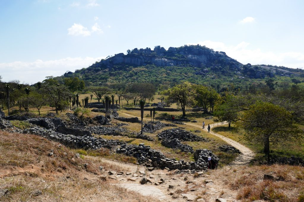 Great Zimbabwe ruins Hill Complex from the Valley Ruins