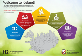 driving safely in Iceland in the winter