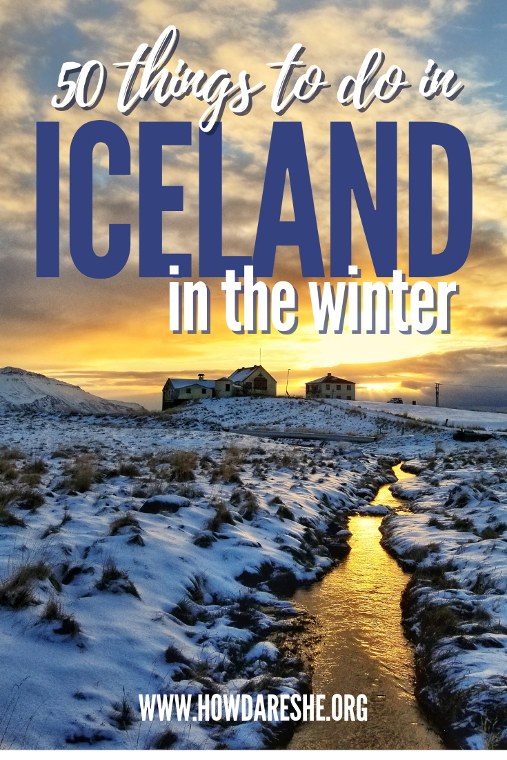 Visiting Iceland in the winter is a dream – the beautiful country blanketed in ice and snow and it is peak season for chasing the Northern Lights. But with that snow comes safety concerns and additional restrictions. Whether it's a road trip in Iceland in December or exploring in February, here is what you need to know to plan a safe and adventurous visit to Iceland in the winter and 50 winter activities.