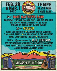Tempe Innings Festival 2020 Lineup Poster