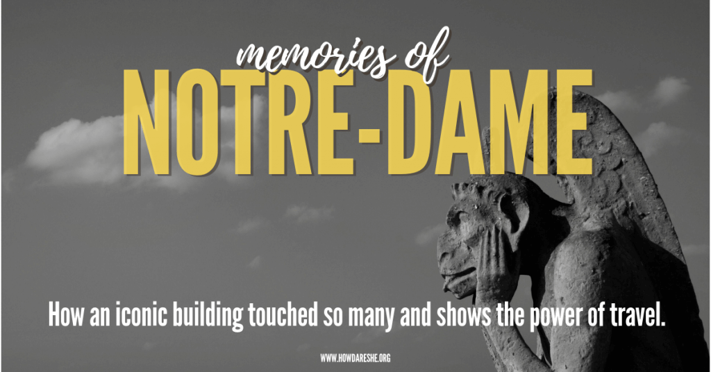 """Collective shock set in around the world as pictures of one of the most iconic buildings in history burned. Notre Dame Cathedral in Paris is about 800 years old, visited by 13 million people annually. Because it is such a symbol of Paris, people's reactions have gone beyond the now-standard """"thoughts and prayers"""" to mourning a genuine connection to the church. As those memories fill the internet this week, I've gathered many of them here. Whether it be a first trip abroad, or starting a new phase of life, or a shared moment between family members, or an inspiration to understand architecture, people's stories about Notre-Dame have been a reminder of how travel can impact us."""