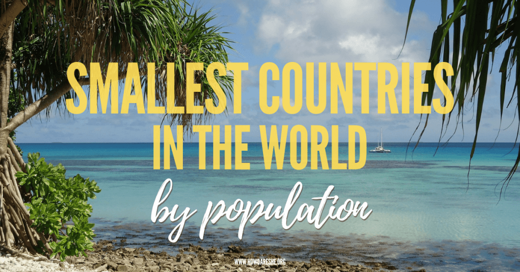 Smallest populations in the world featured image with tuvalu beach