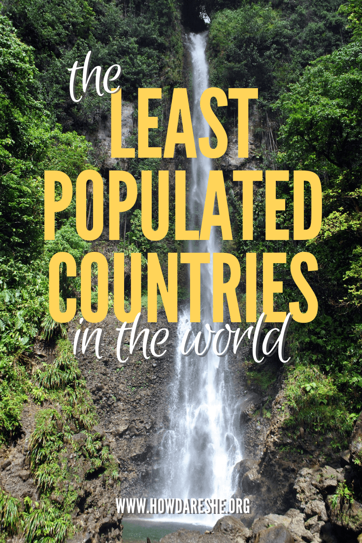 The smallest countries in the world, by population
