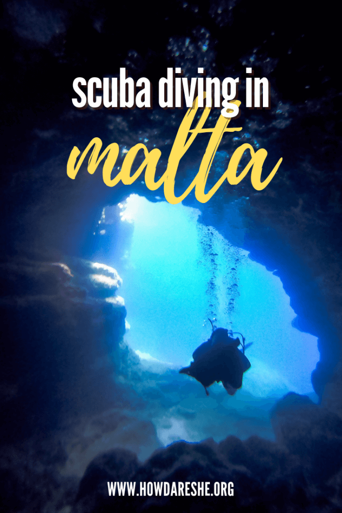 text scuba diving in malta image diver swimming and bubble in a cave