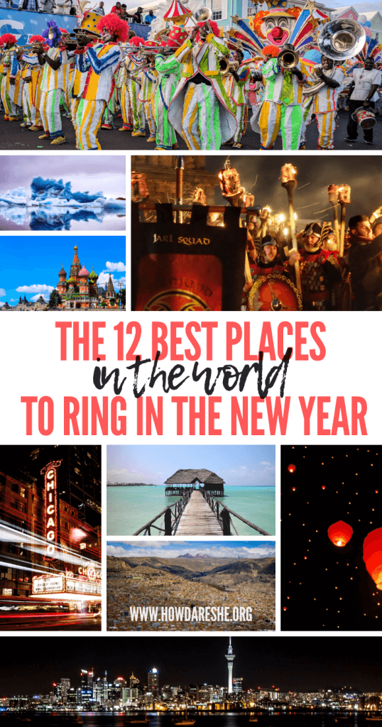No matter what type of celebration you're looking for, these are the 12 best cities in the world to celebrate New Year's Eve. #newyear #newyeartravel #newyearnewyork #newyork #capetown #iceland, New Year's Eve, New Years Eve, New Year in New York, #hogmanay #scotland #bahamas #auckland #chinesenewyear #lunarnewyear
