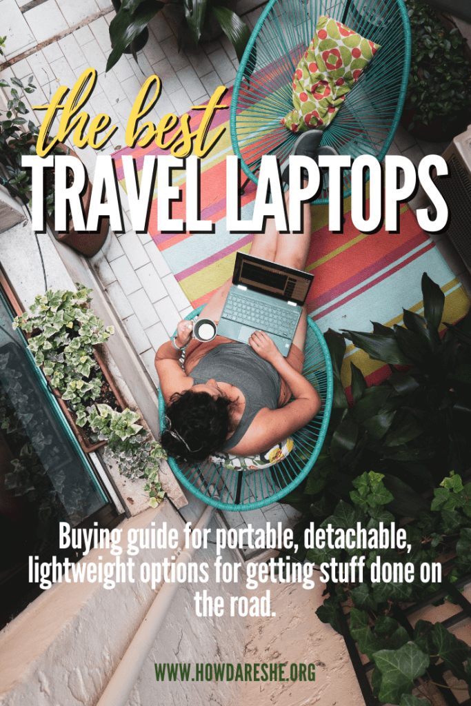 Choosing the best travel laptop is tough – finding the balance between weight, size and performance. These are the 14 best laptops and 2-in-1s for travel, on any budget and any operating system with details on why you might choose each of them. #digitalnomad #traveltech #travelgear #ultrabook #2in1 #laptops #travel
