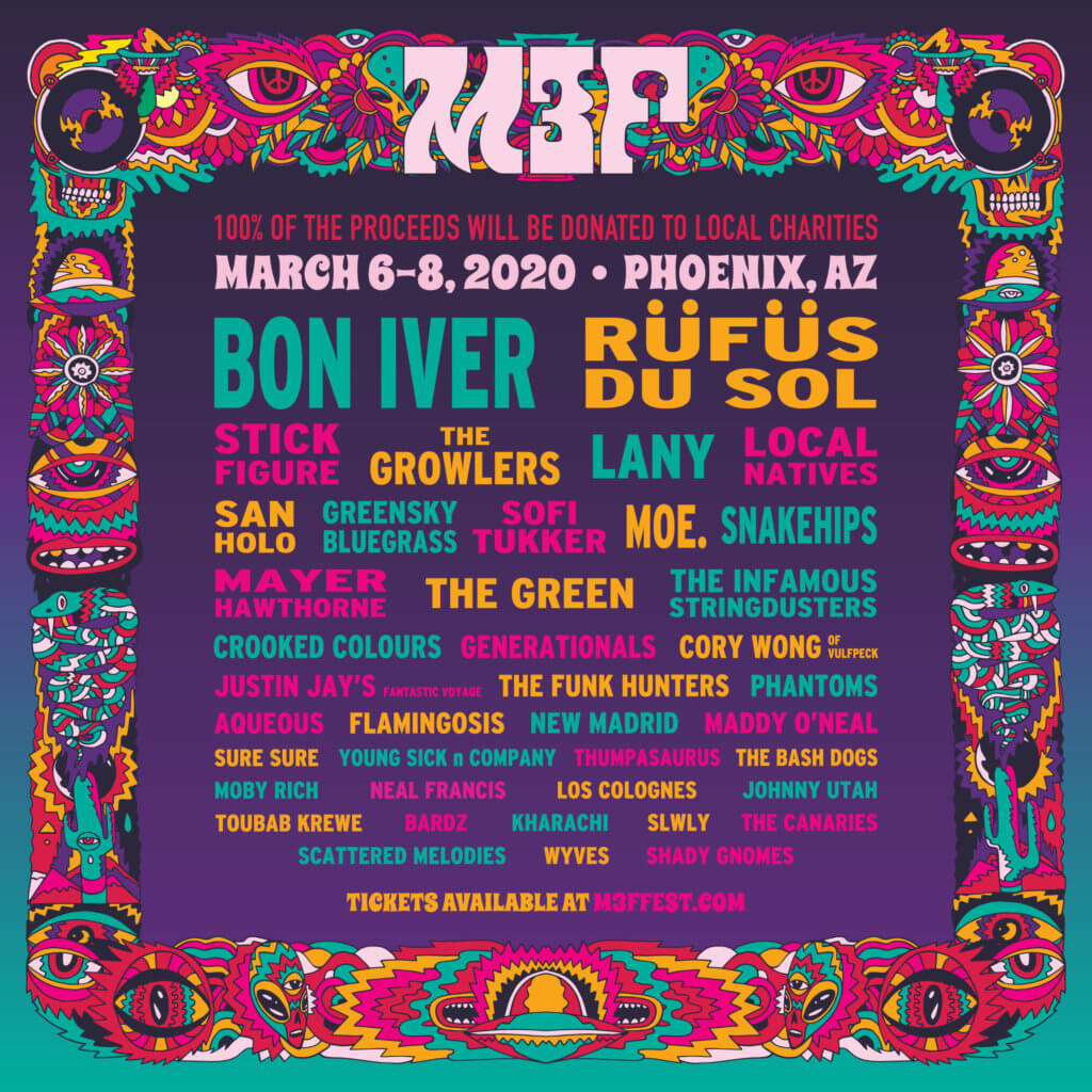 M3F McDowell Mountain Music Fest 2020 lineup